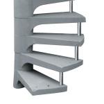 Escada Espiral em concreto - 002