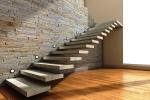 Escada reta em concreto - 001