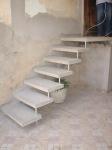 Escada reta em concreto - 004